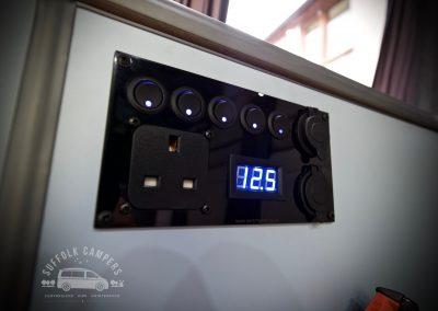switch panel 240v usb