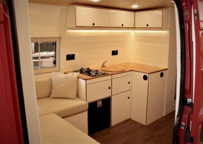 White and light all bespoke van